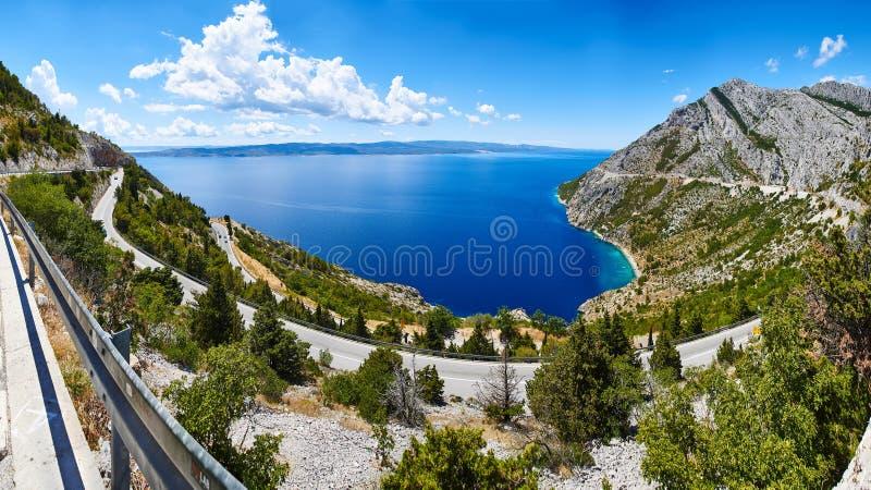 Panorama Makarska Riviera, Chorwacja zdjęcia royalty free