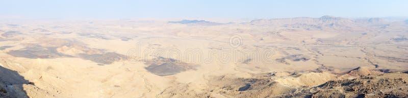Panorama Makhtesh Ramon fotografie stock libere da diritti