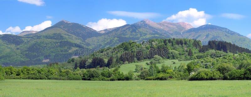 Panorama of Mala Fatra, National Nature Reserve stock image