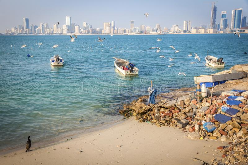 Panorama of Manama. Manama, Bahrain royalty free stock photos