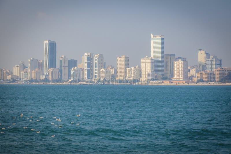 Panorama of Manama. Seen morning time. Manama, Bahrain royalty free stock images