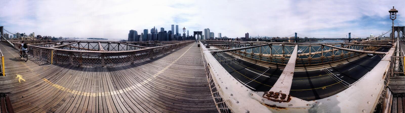 Panorama Manhattan 2000 arkivbild