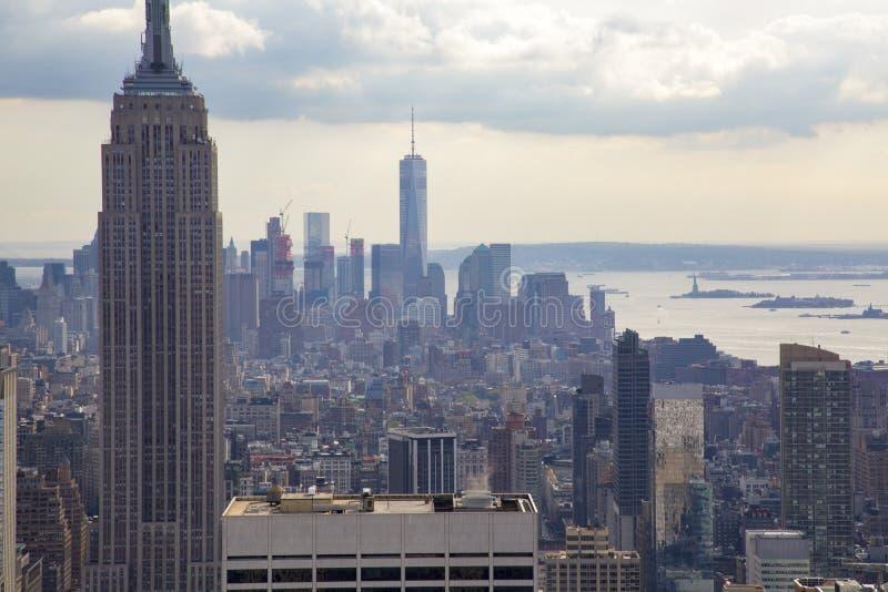 Panorama Manhattan royaltyfri foto