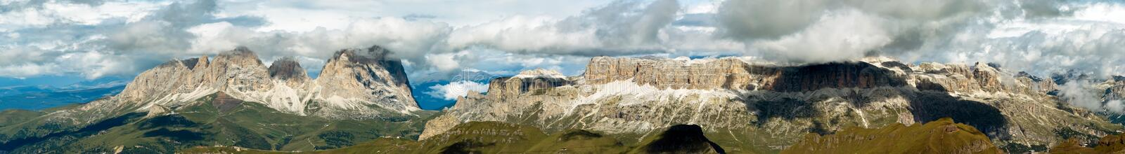 Panorama from Marmolada mountain, Italy stock images