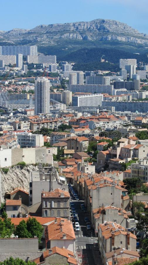 Panorama- Marseille royaltyfri bild