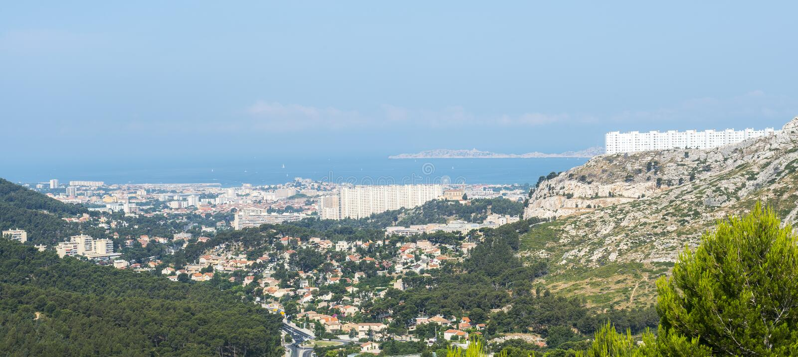 Download Panorama of Marseille stock image. Image of view, french - 37484873