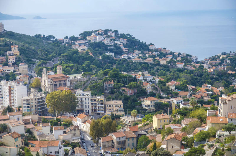 The panorama of Marseilles royalty free stock photo