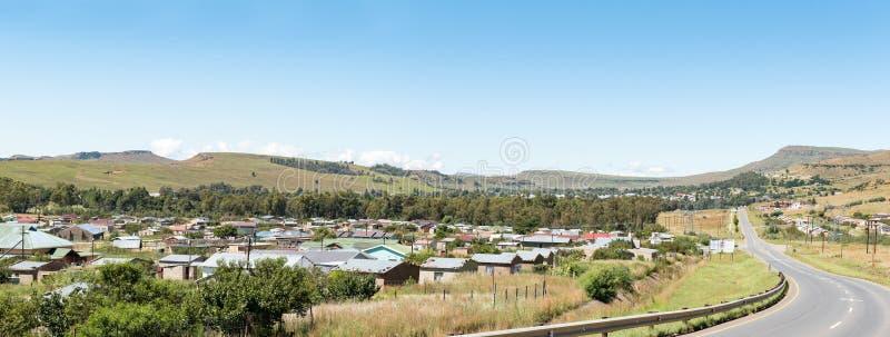 Panorama Matatiele w Wschodniej przylądek prowinci obrazy stock