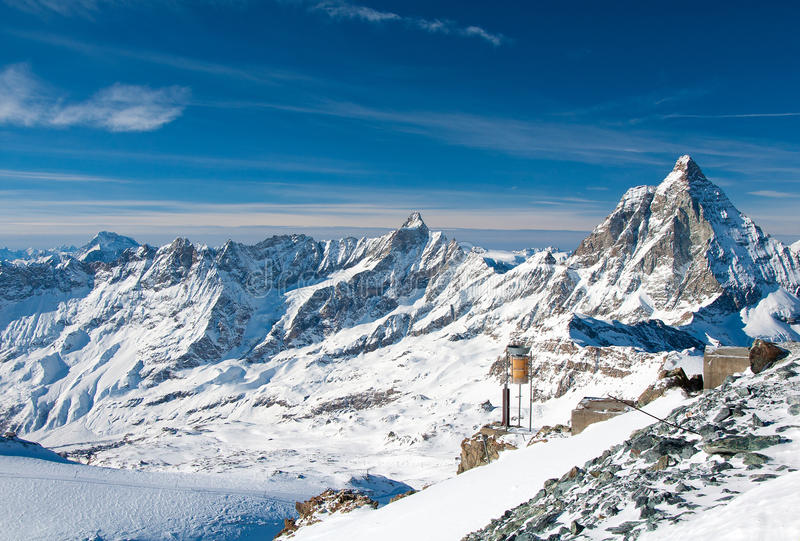 Download Panorama Of The Matterhorn Glacier Stock Image - Image: 28880025