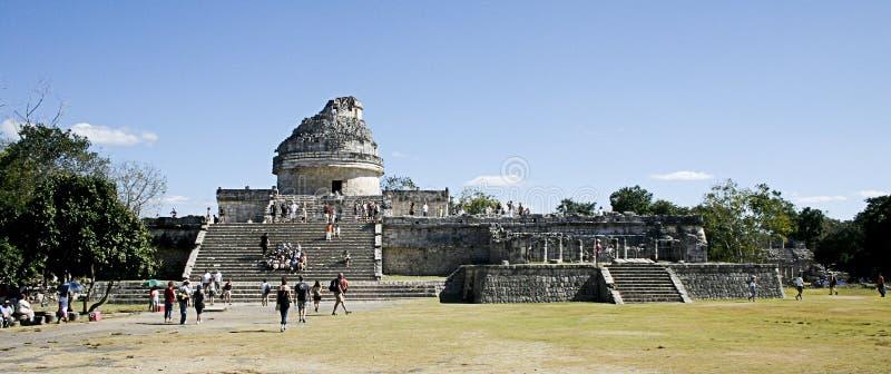 Maya Observatory at Chichen Itza stock photo