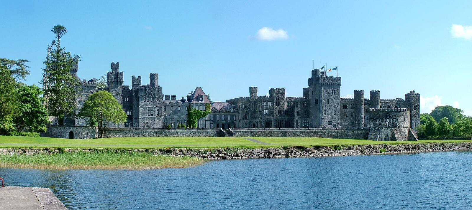 Panorama of Medieval Ashford castle royalty free stock photo
