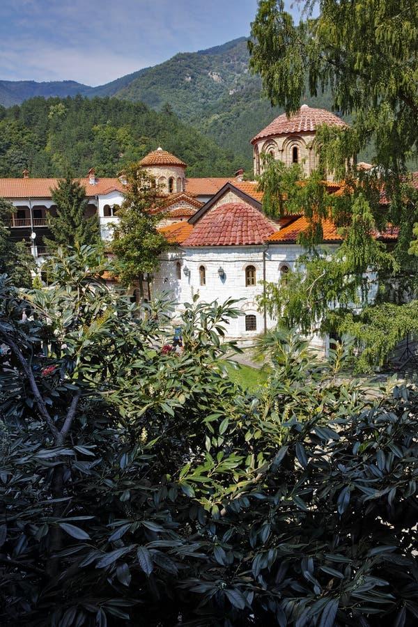 Panorama of Medieval Bachkovo Monastery. Bulgaria royalty free stock image