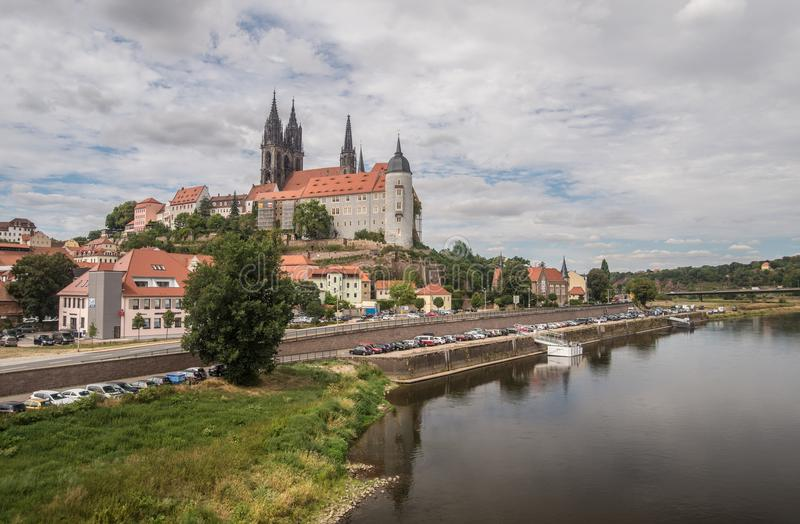 Panorama medieval da cidade de Bautzen, Alemanha oriental fotografia de stock royalty free