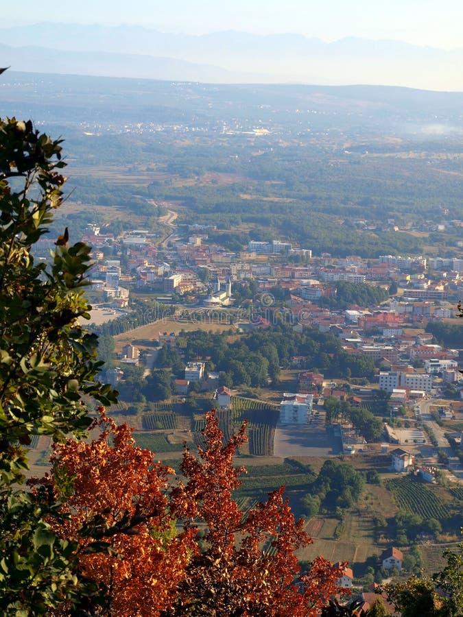 Panorama Medjugorje uppifrån Krizevac royaltyfri fotografi