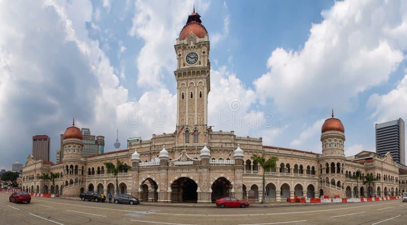 Panorama of the Merdeka Square, Kuala Lumpur stock image