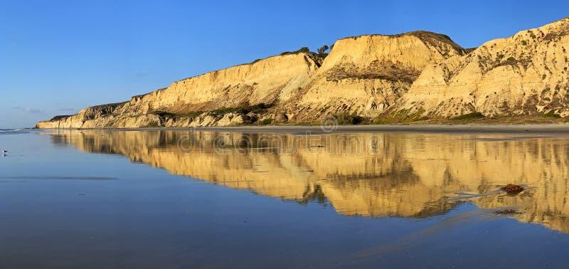 Panorama met lage tij, Torrey Pines stock foto's
