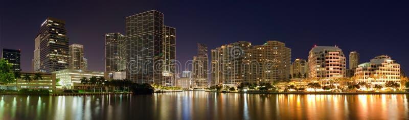 Panorama of Miami royalty free stock photo
