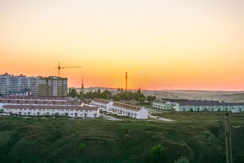 Panorama miasto Belgorod obraz royalty free