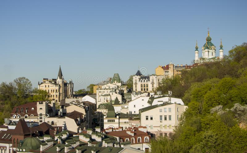 Panorama miasto Kijów od grodowej góry obrazy stock