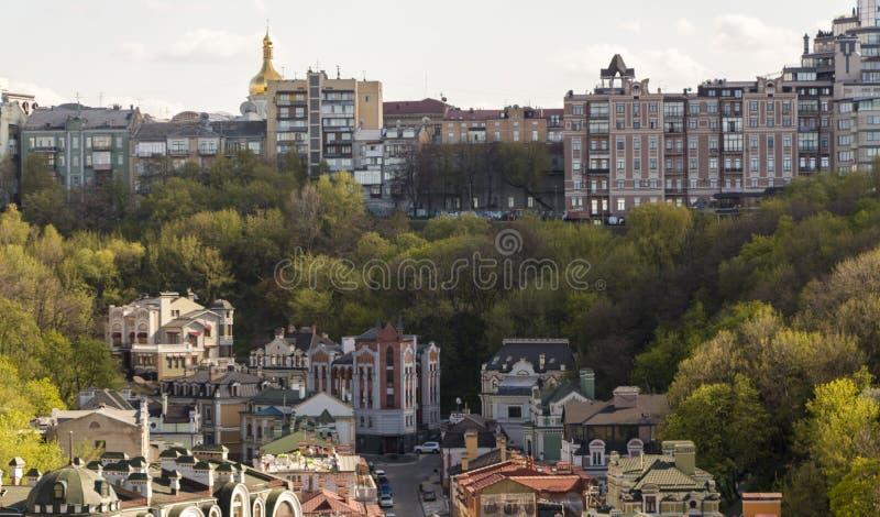 Panorama miasto Kijów od grodowej góry obraz royalty free