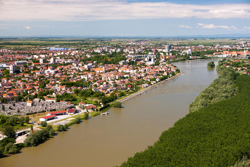 Panorama miasto Osijek fotografia royalty free