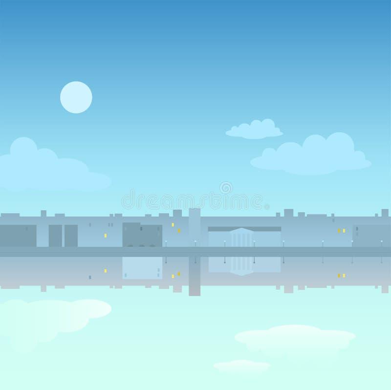 Panorama miasto w zmierzchu obraz royalty free