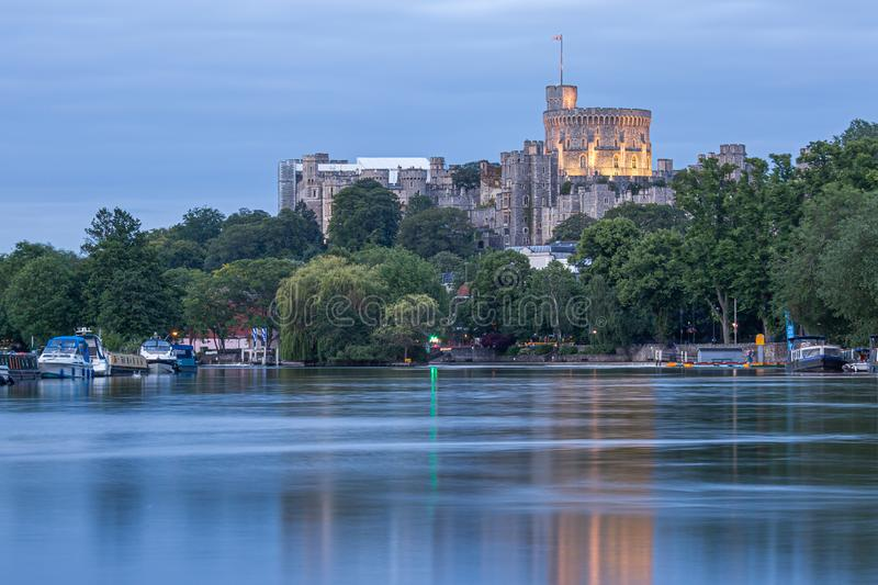 Windsor Castle overlooking the River Thames, England royalty free stock photos
