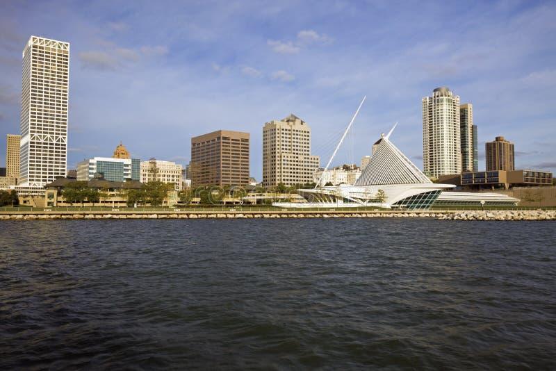 Panorama of Milwaukee royalty free stock photos