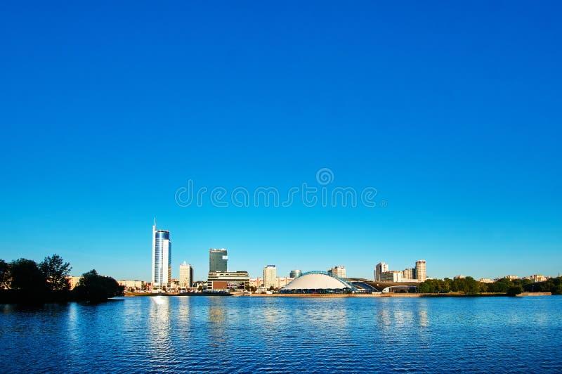 Panorama Minsks Weißrussland der historischen Mitte lizenzfreie stockfotos