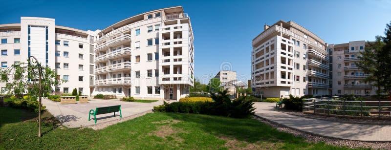 Panorama moderne de maisons image libre de droits