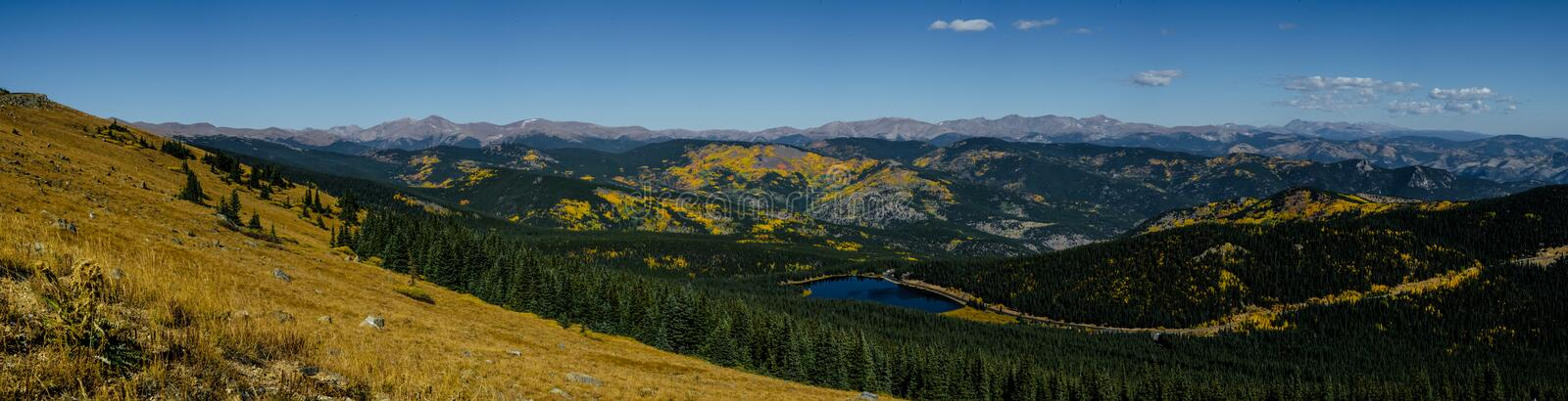 Panorama from Mount Evans Road royalty free stock photography
