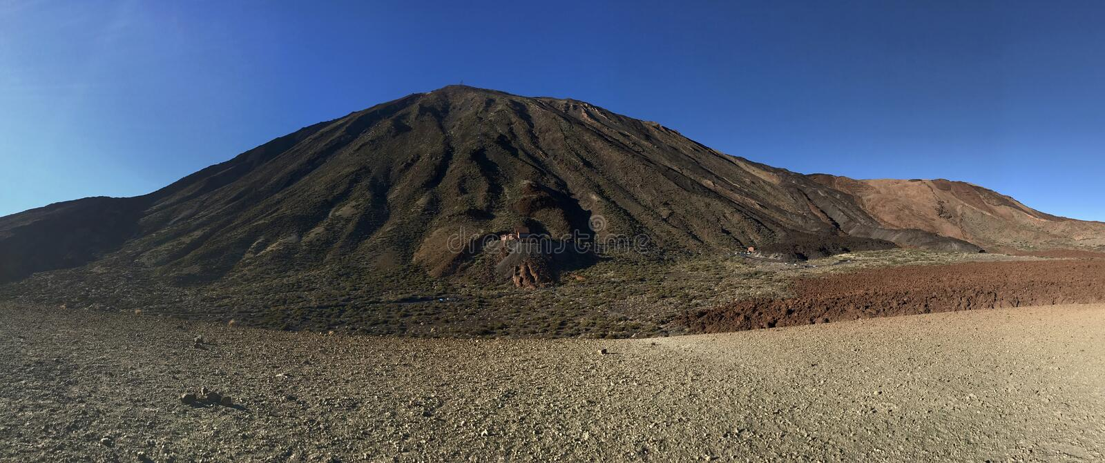 Panorama from Mount Teide. A volcano on Tenerife in the Canary Islands stock images