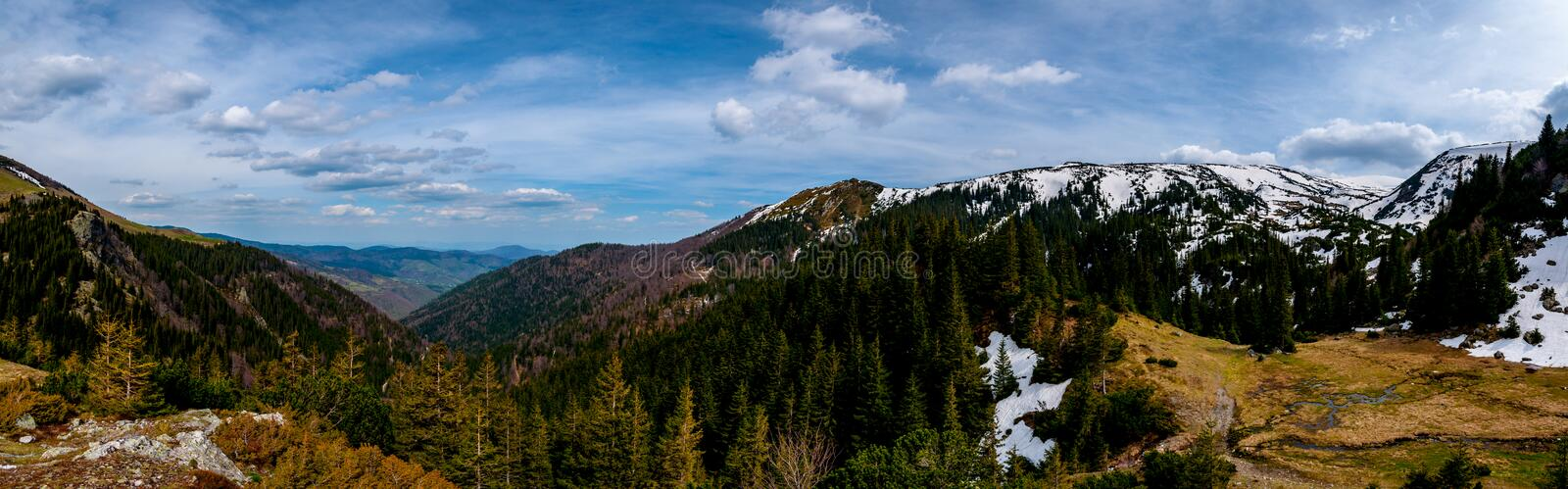 Panorama of the mountain Vranica. Vranica one of the most beautiful mountain in Bosnia and Herzegovina stock images