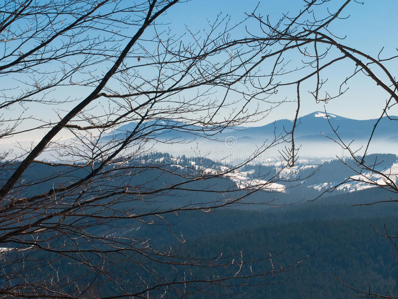 Download Panorama of mountains stock photo. Image of branch, valley - 18728478