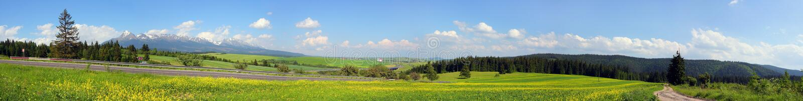 Panorama-Mountains and knolls stock photo