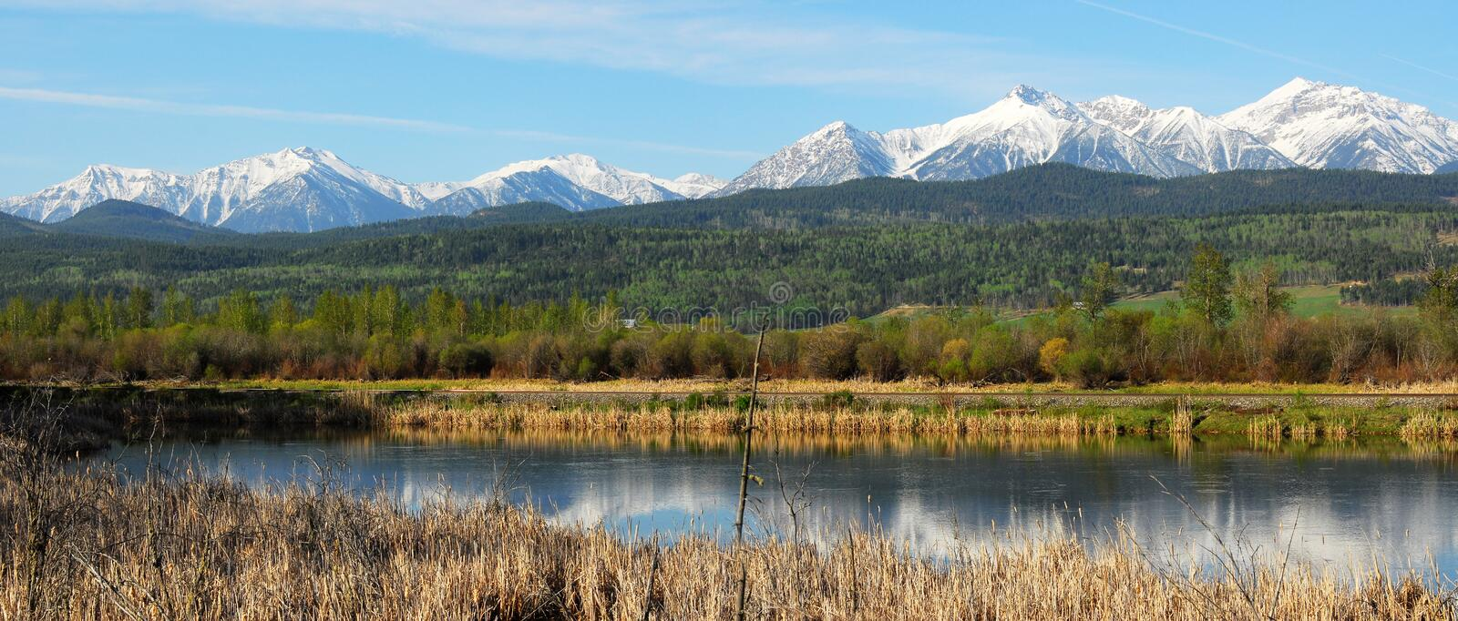 Download Panorama Of Mountains And River Stock Photo - Image: 5333942