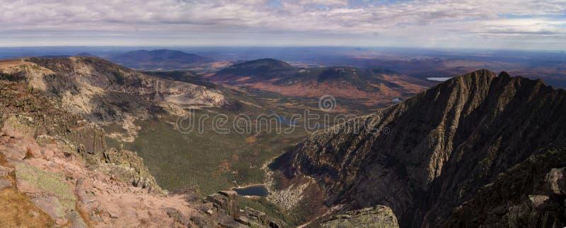 Panorama Mt Katahdin stockfotos