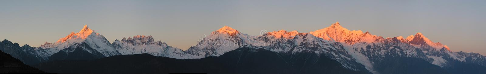 Panorama of Mt. Meili royalty free stock photo