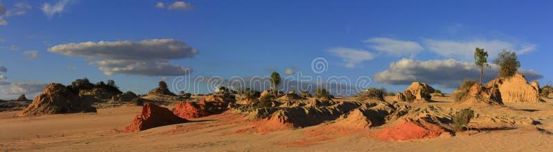 Panorama - Mungo national park, NSW, Australia stock photo