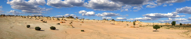 Panorama - Mungo national park, NSW, Australia royalty free stock photos