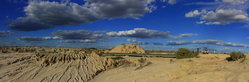 Panorama - Mungo national park, NSW, Australia stock image