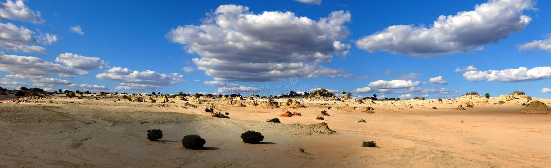 Panorama - Mungonationalpark, NSW, Australien royaltyfria bilder