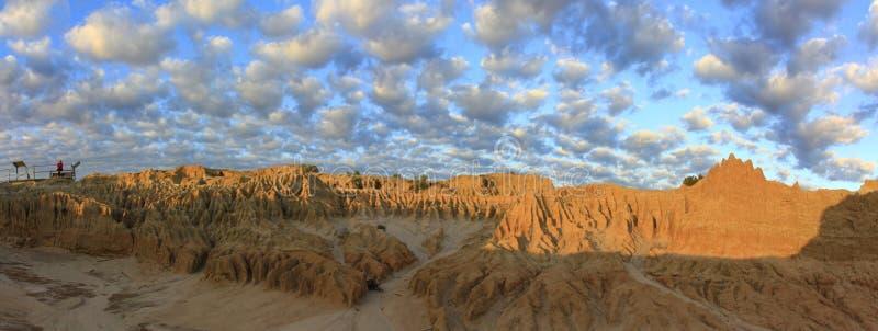 Panorama - Mungonationalpark, NSW, Australien royaltyfri fotografi
