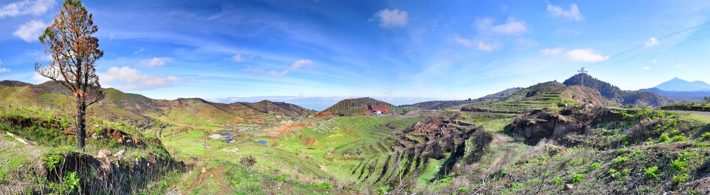 Panorama nära Voclano Teide Tenerife, Canarian öar arkivbild