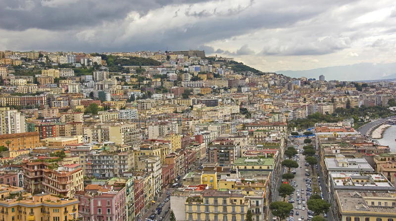 Panorama of Naples. Panorama of the city of Naples, italy royalty free stock images