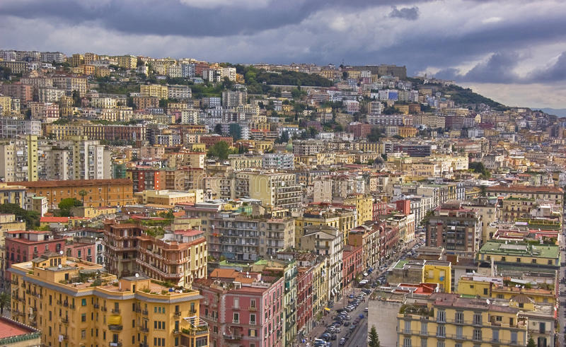 Panorama of Naples. Panorama of the city of Naples, italy royalty free stock image