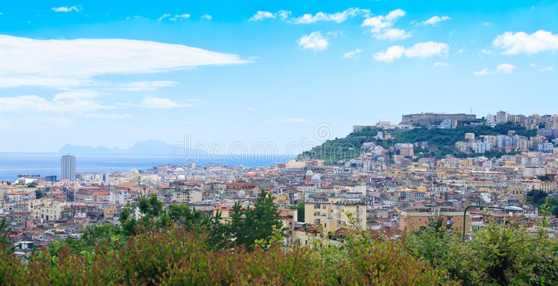 Panorama in Napoli royalty free stock photo