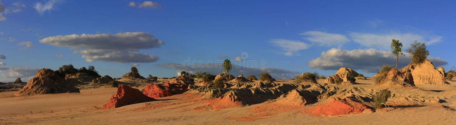 Panorama - Nationalpark des Mungos, NSW, Australien stockfoto