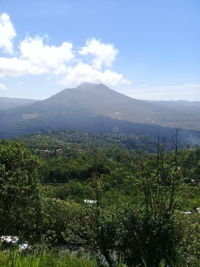 Panorama natural del kintamani del batur del soporte fotografía de archivo libre de regalías