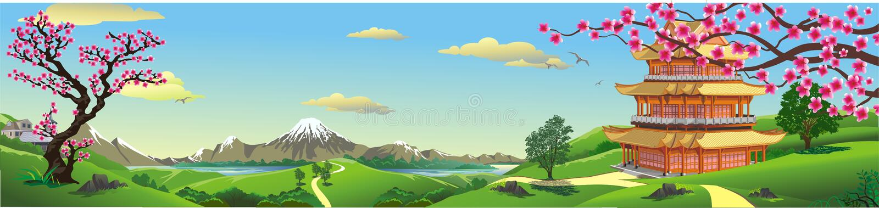 Panorama of nature, Asia Palace royalty free illustration